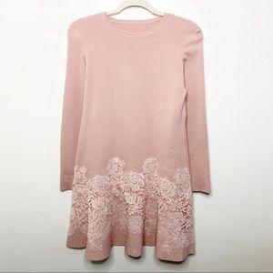 Valentino Spa Blush Pink Lace Trim Dress